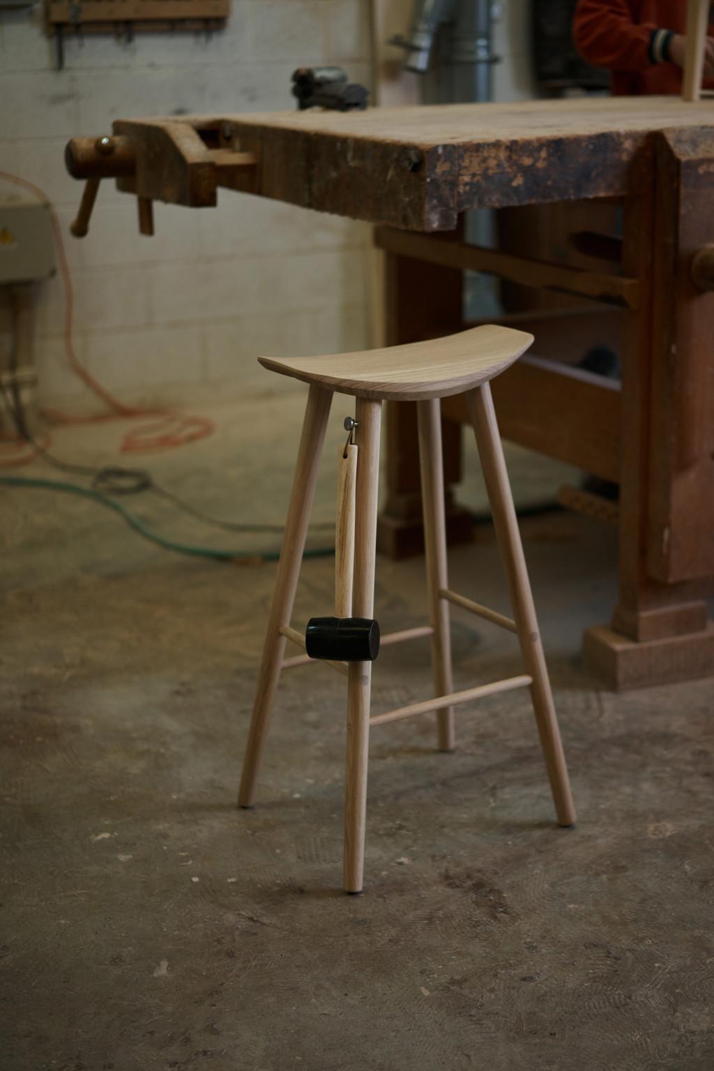 "Minimalist Stool ""Sløyd"" Designed by Snøhetta"
