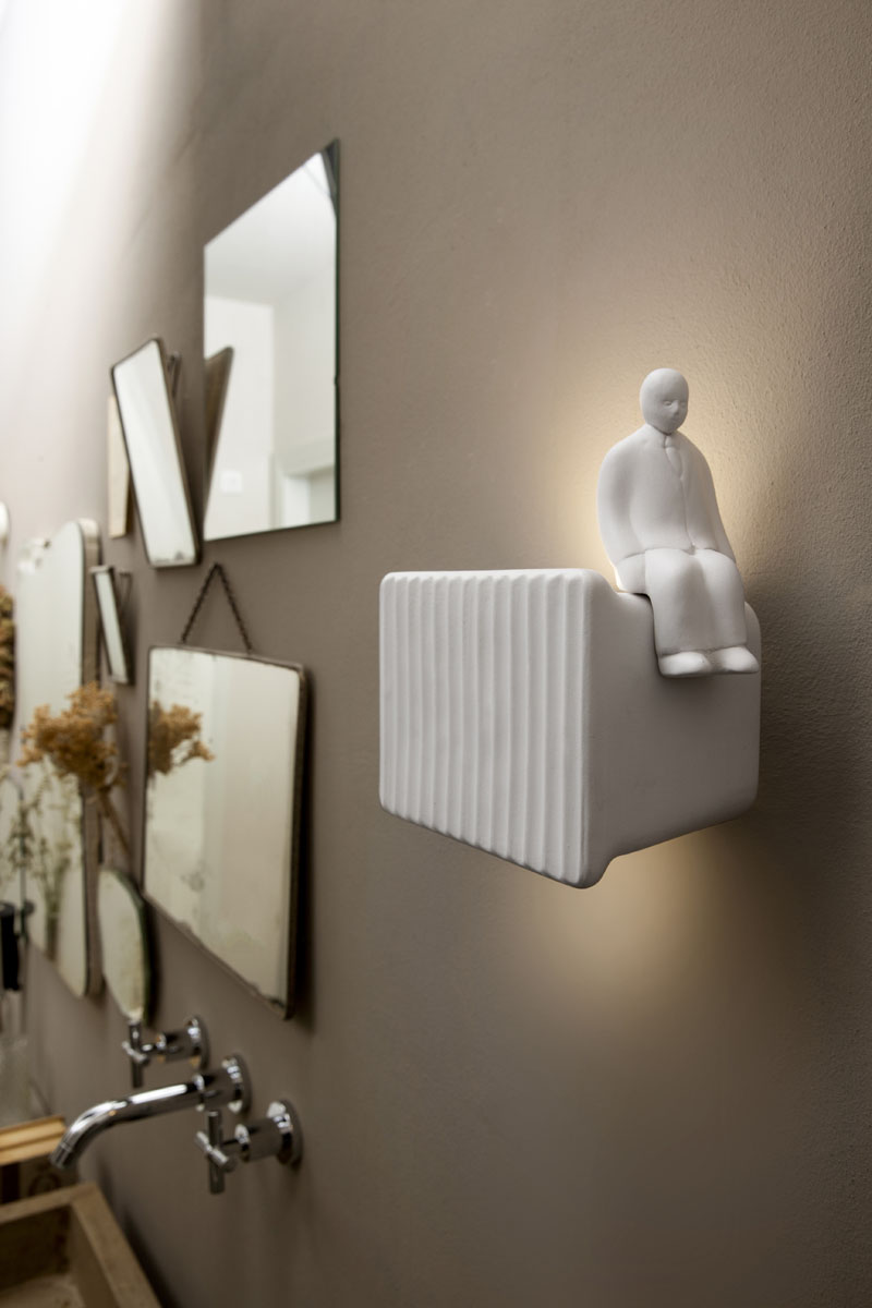 "A Fun Wall Lamp ""Umarell"" by Giorgio Biscaro"