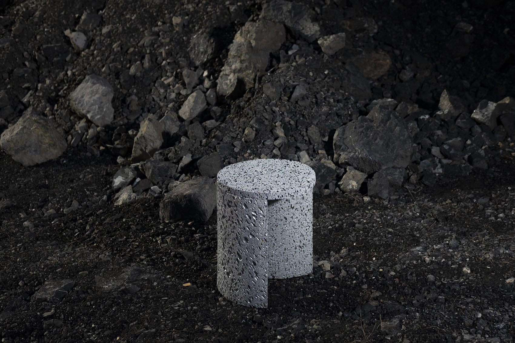 "The Collection of Furniture Pieces ""Moon Rock"" by Studio Furthermore"