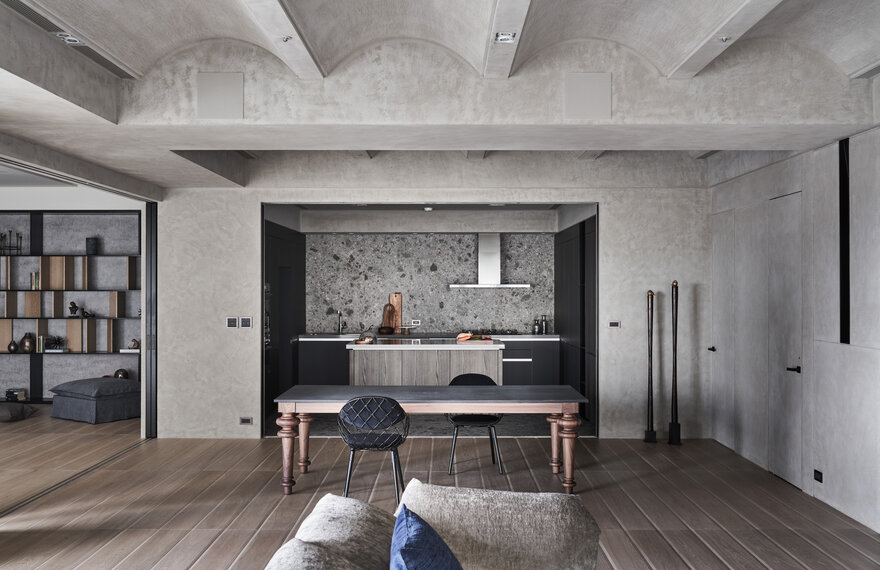Stylish Open-Plan Apartment by Peny Hsieh Interiors in Taipei, Taiwan