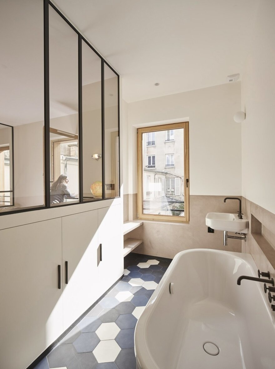 Small Family Home by Alia Bengana + Capucine de Cointet Architectes in Paris, France