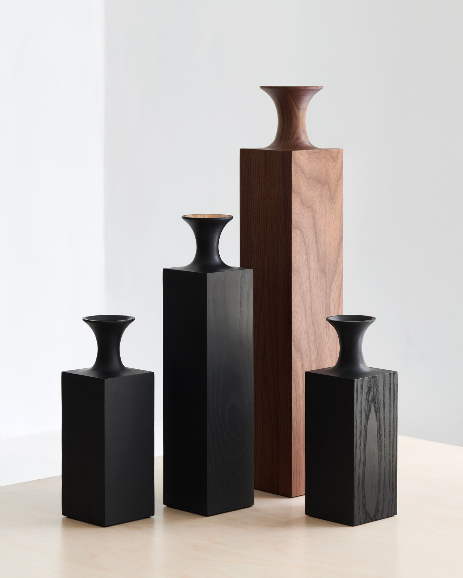 Tasso Wood Vases by Mathieu Delacroix