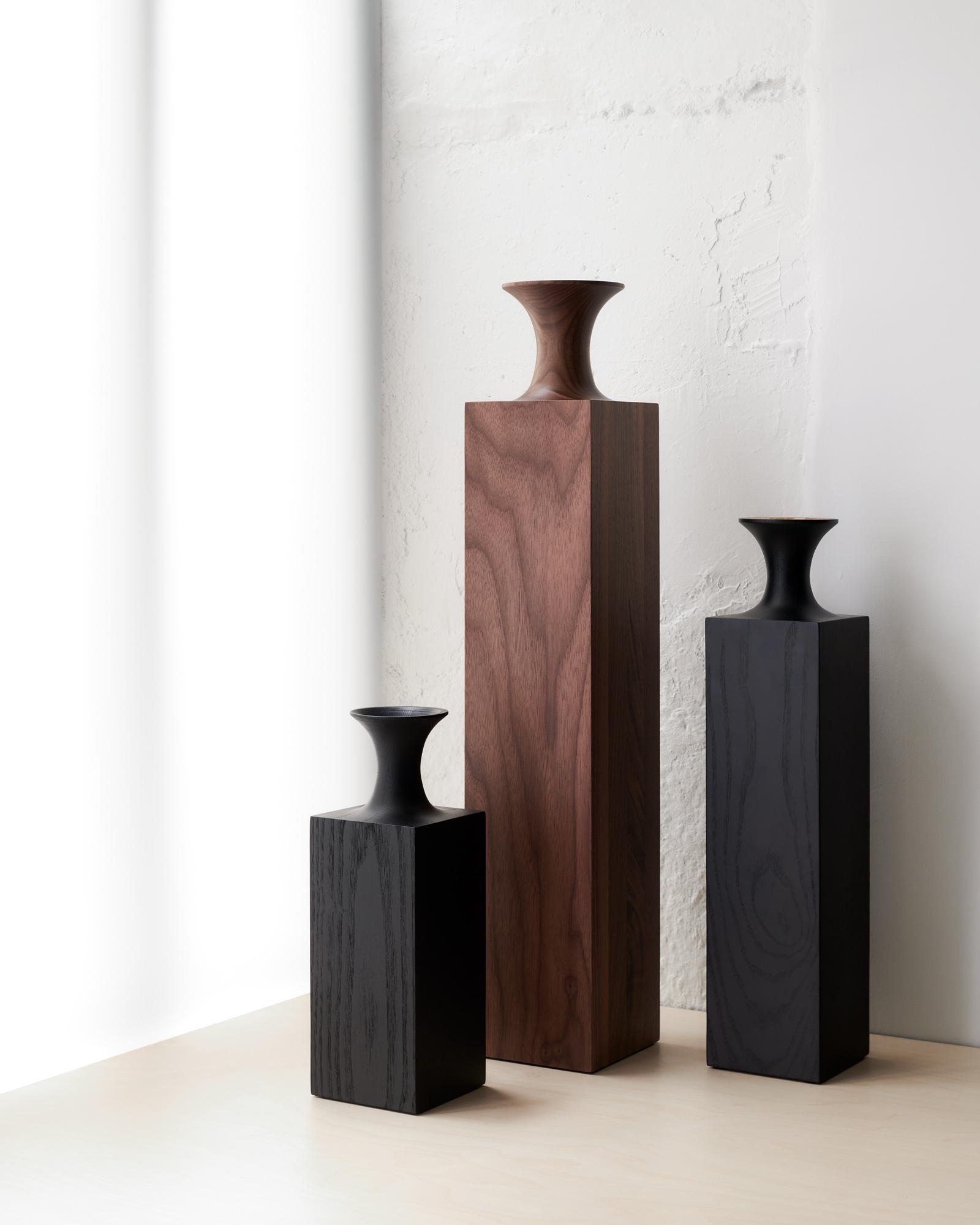 Tasso Wood Vases by Mathieu Delacroix