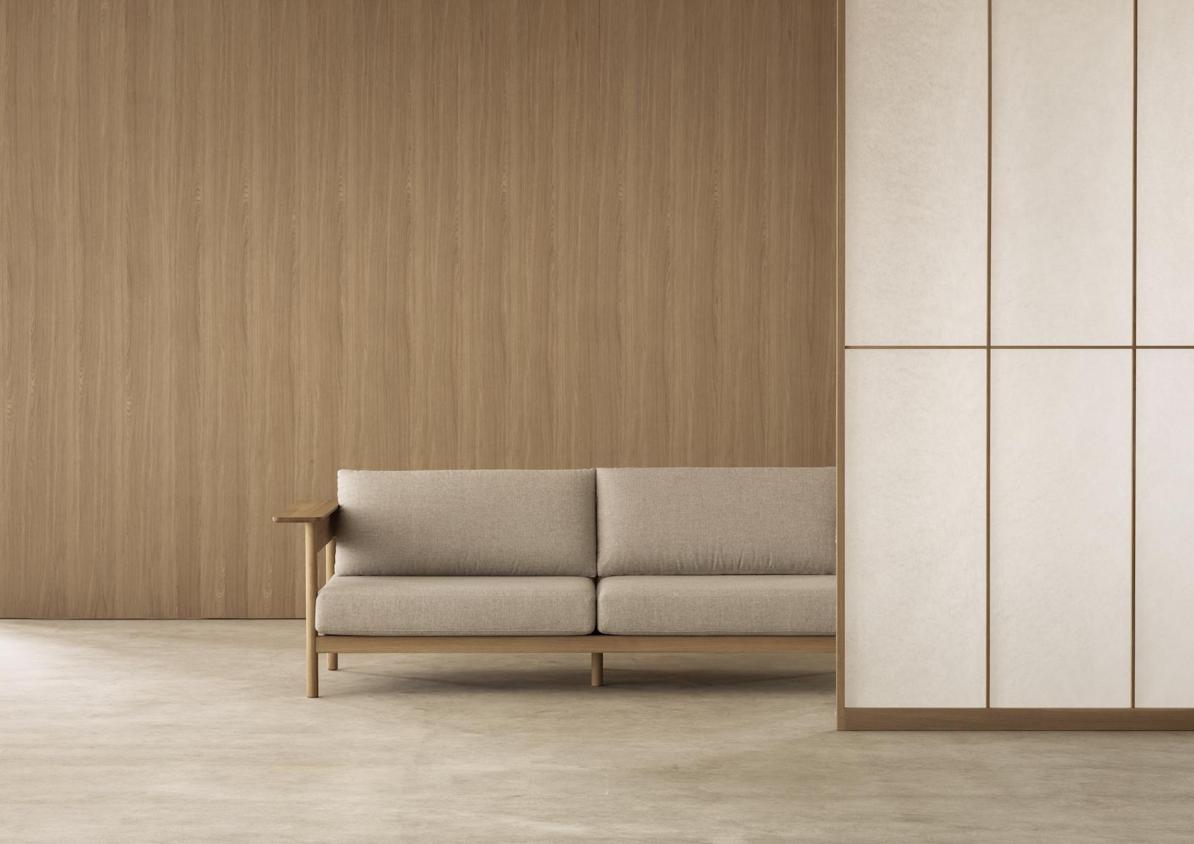 Minimalist Sofa Kinuta N-S01 by Norm Architects