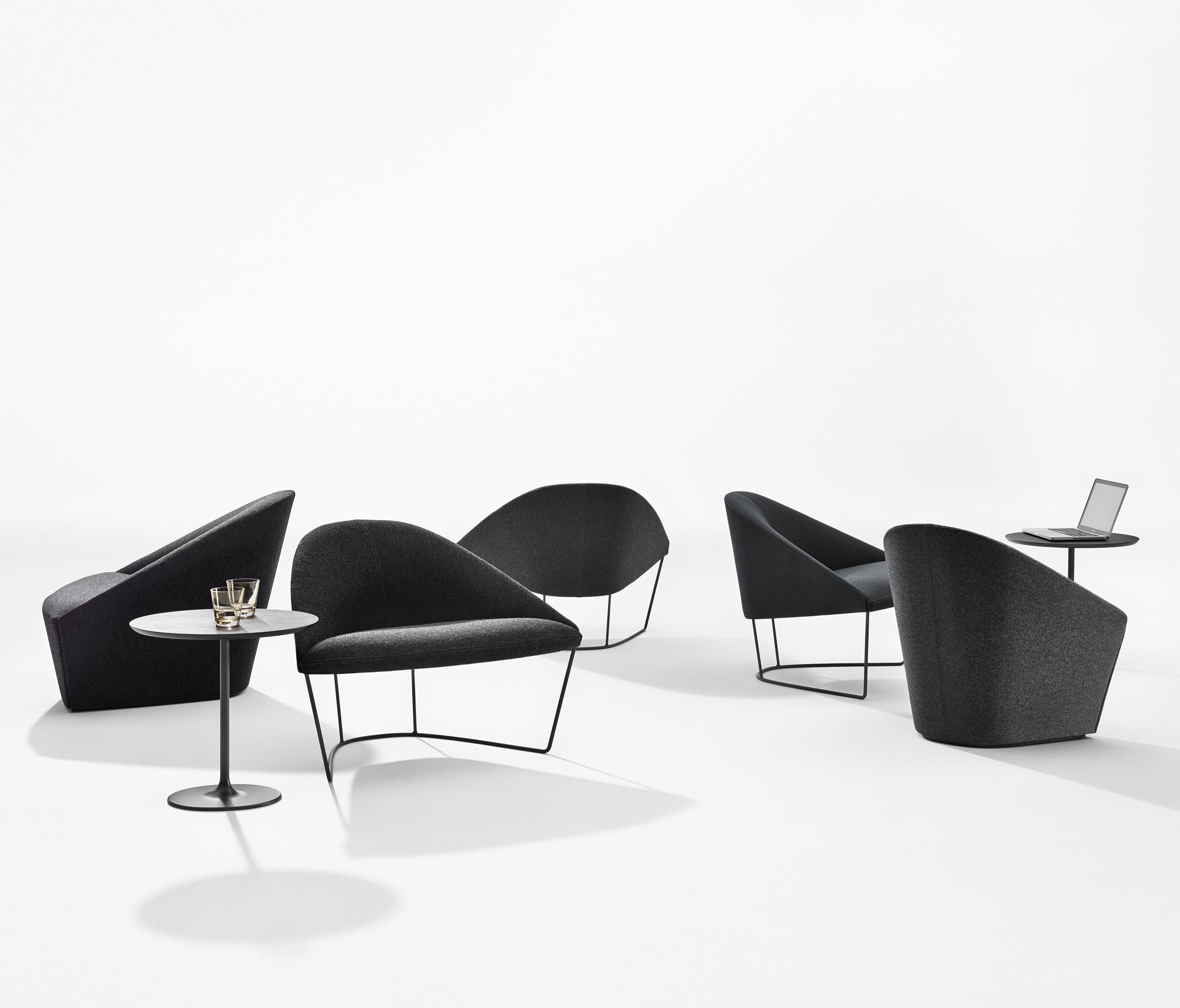 Colina Armchairs by Arper