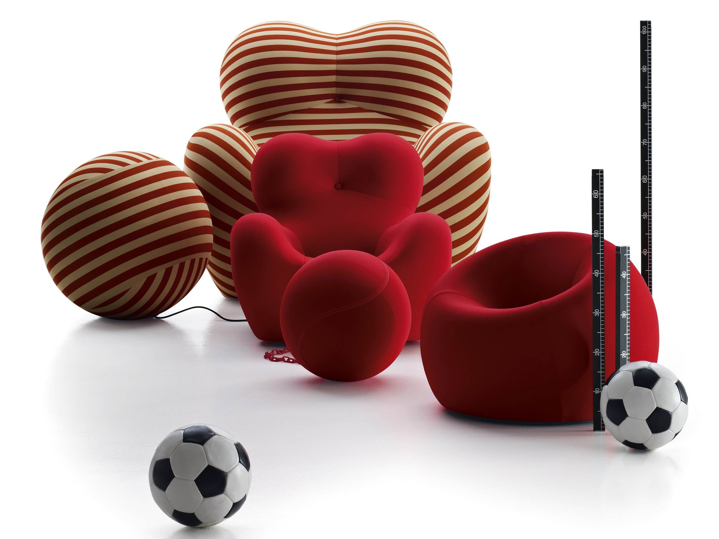 UPJ Kids Armchair with Removable Cover with Footstool by Gaetano Pesce