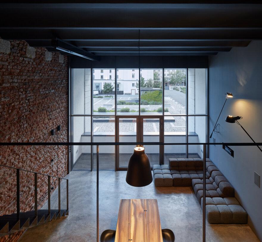 Modern Industrial Loft in Prague, Czech Republic by CMC architects