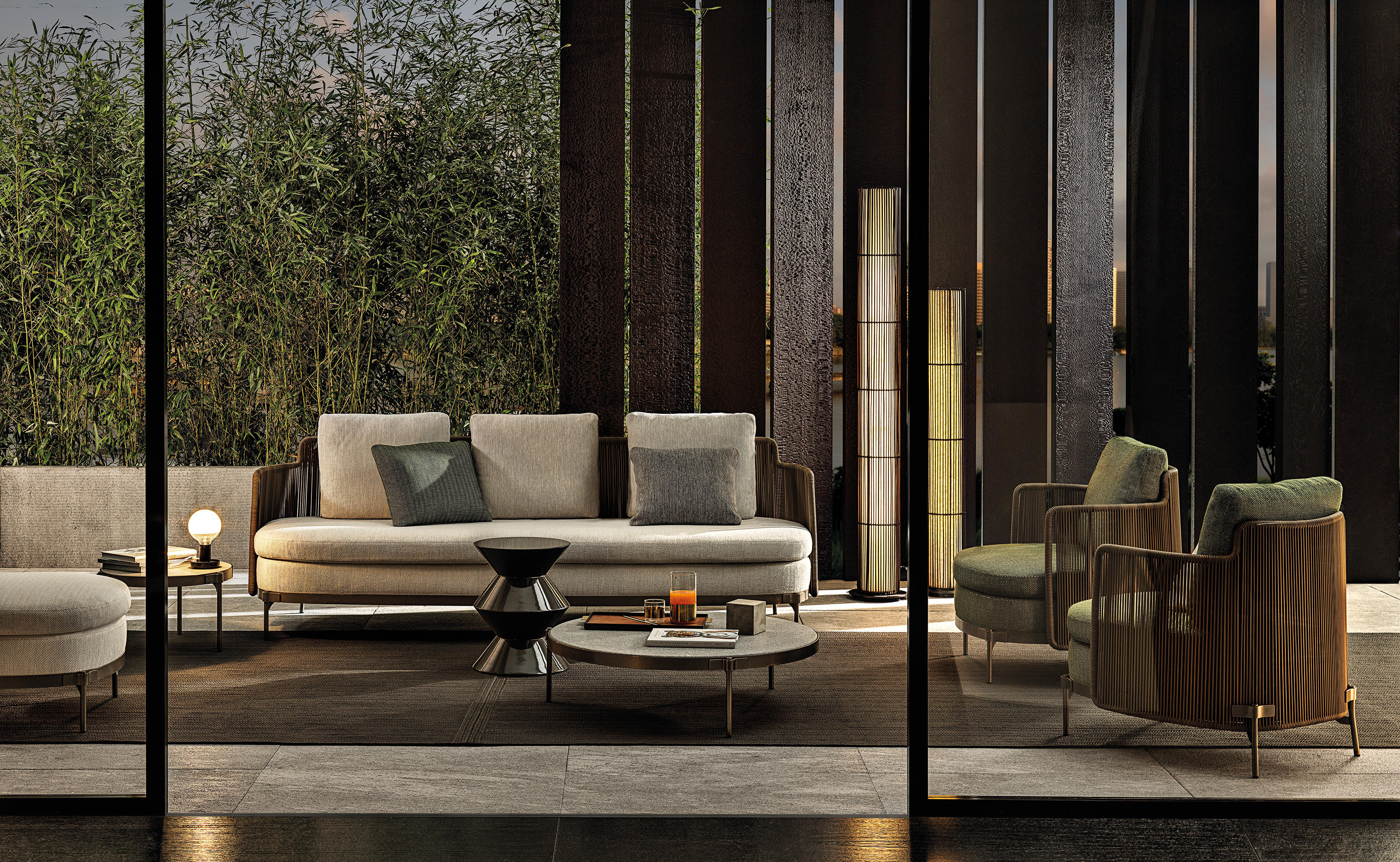 Tape Cord Outdoor Seating Collection by Nendo for Minotti